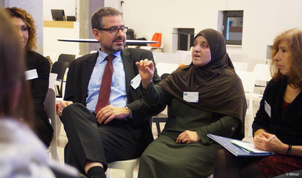 Teilnehmende eines Workshops bei der Abschlussveranstaltung