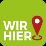 """Logo des Projektes """"Wir hier!"""""""