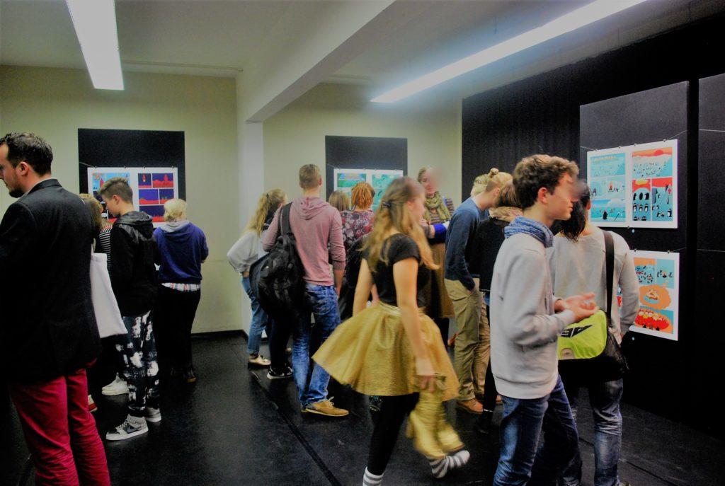 """Die Comicausstellung auf der """"Frontaldiskurs"""" Abschlussveranstaltung 2015"""