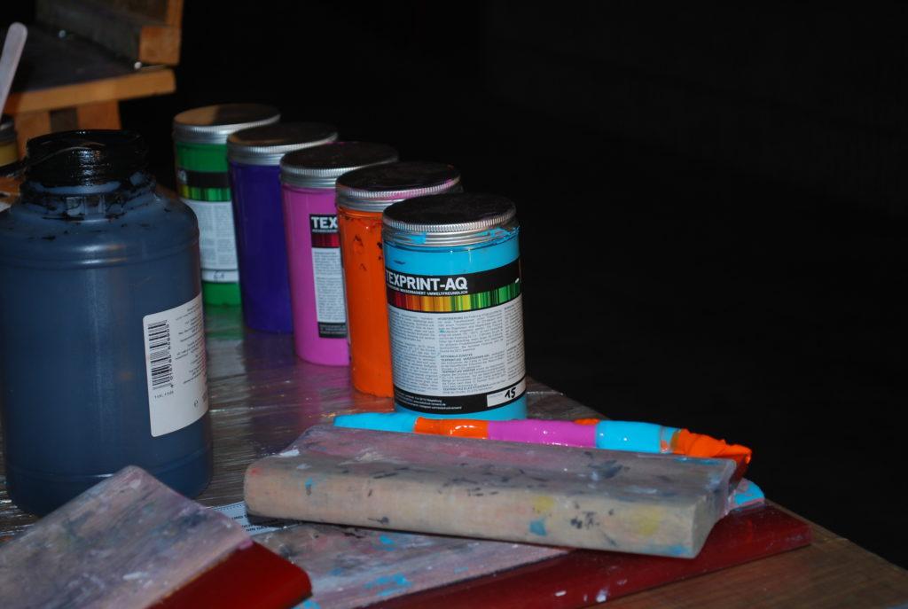 Farbe des Siebdruck-Workshops