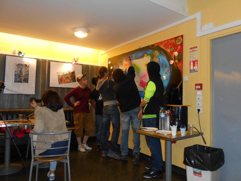 Jugendliche beim Workshop 2013