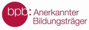 Logo: Anerkannter Bildungsträger der Bundeszentrale für politische Bildung