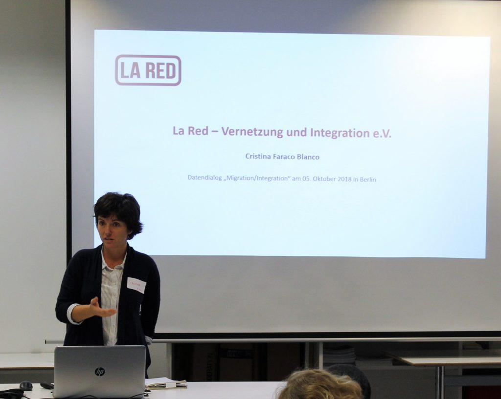 Vortrag von Cristina Faraco Blanco, La Red